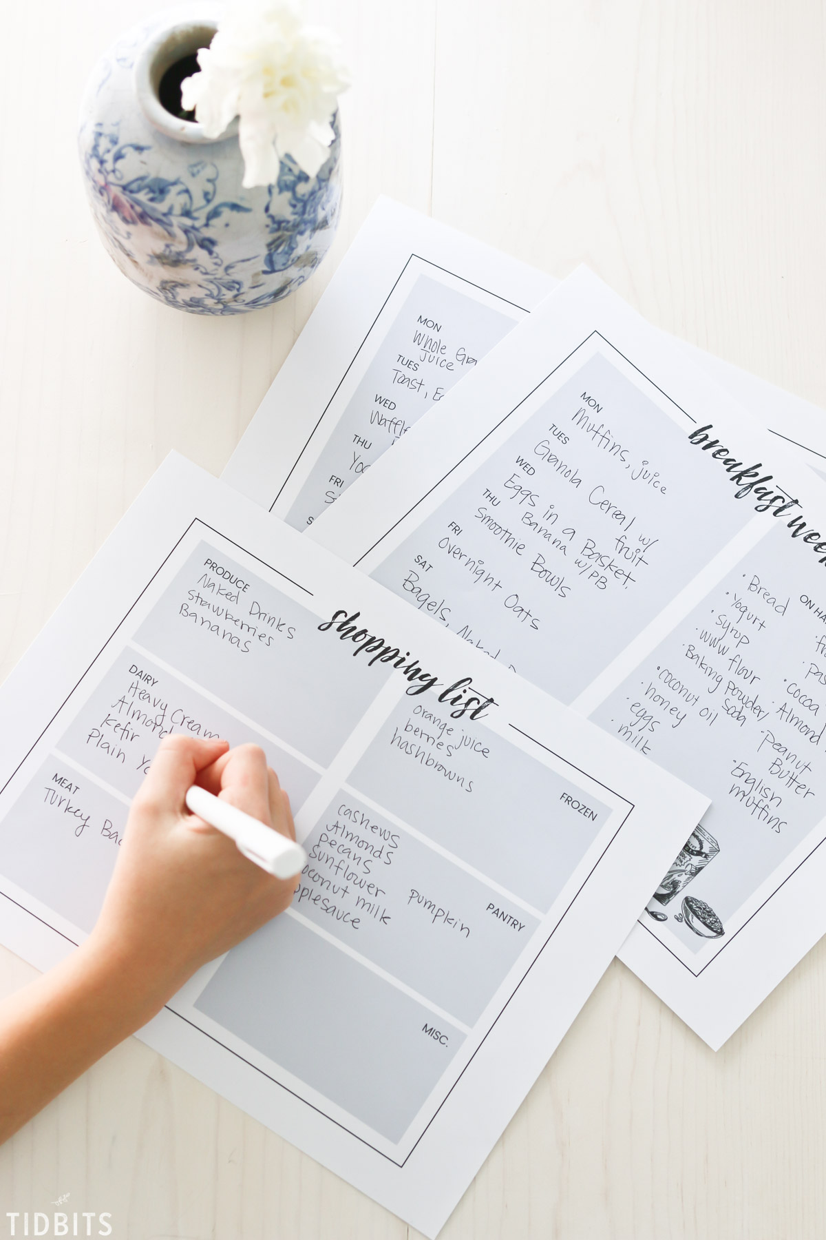Breakfast Menu Planning Printables and Tips.