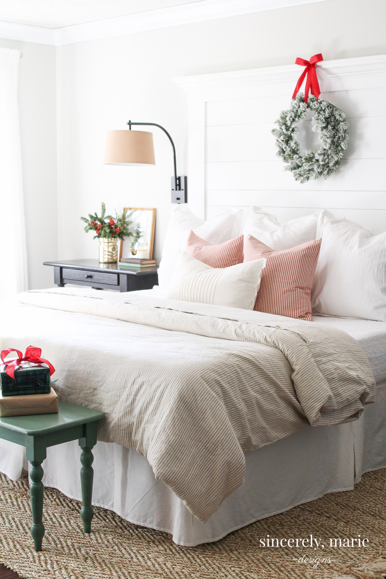 Classic Christmas Bedroom