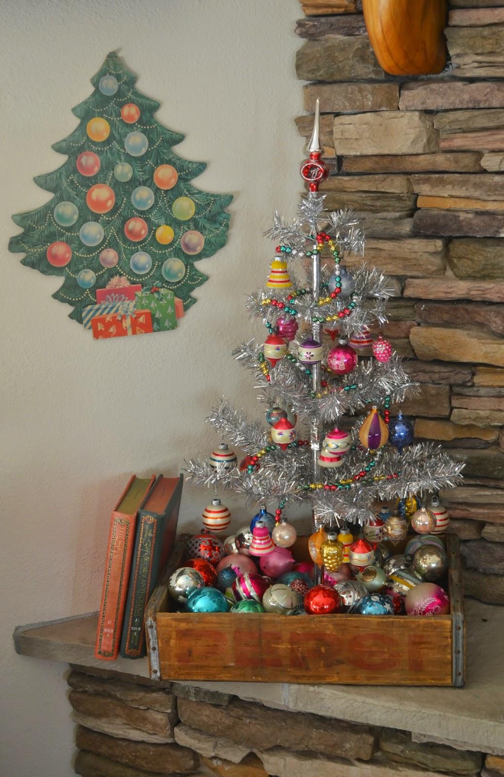 tinsel christmas tree