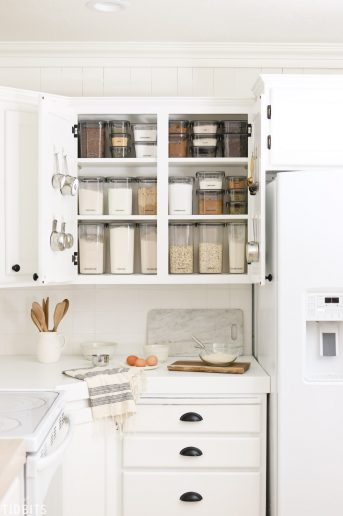 Baking Cupboard Organization