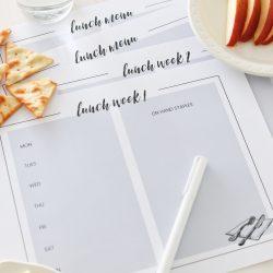 Lunch Menu Planning Printables