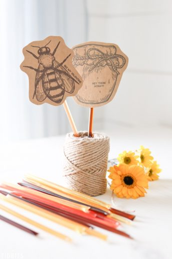 Honey Stick Valentines Printables