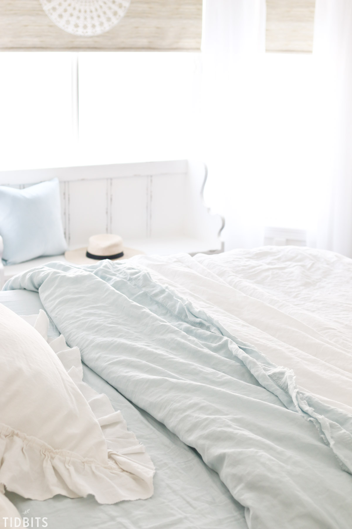 Spring bedroom refresh and pure linen sheets