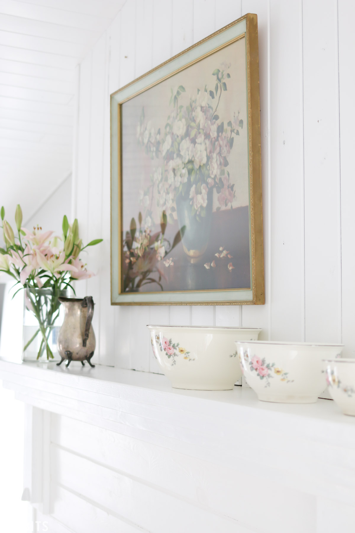 Asymmetrical mantel design to add character