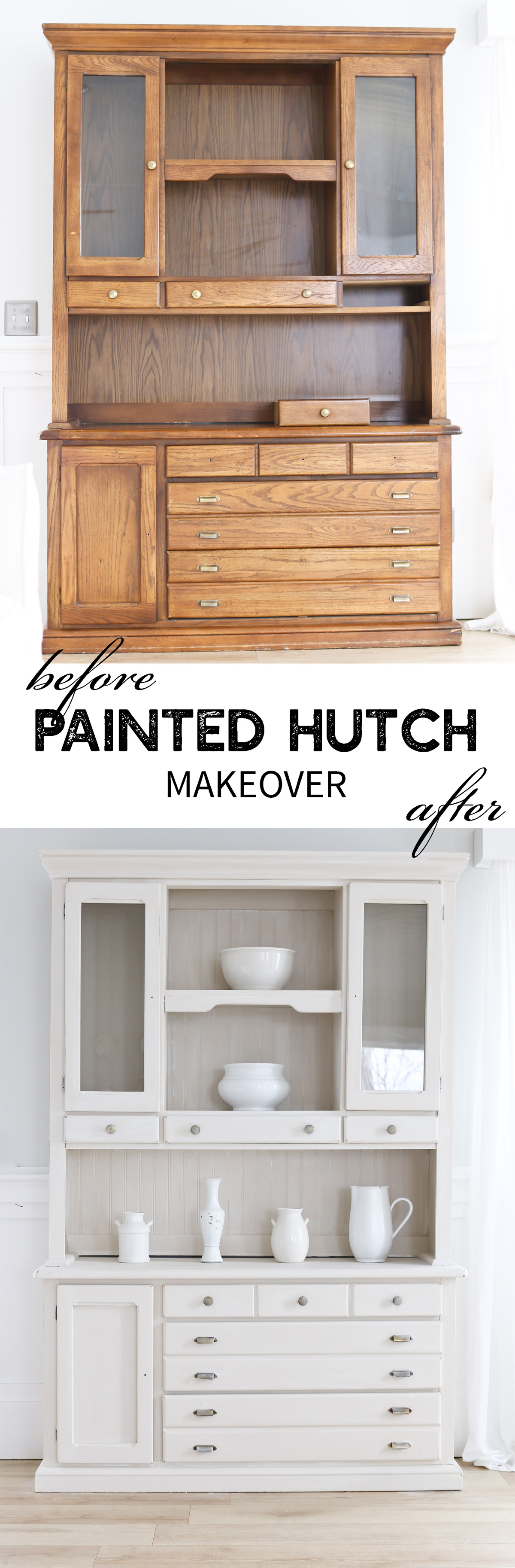 DIY PAINTED HUTCH MAKEOVER BY TIDBITS
