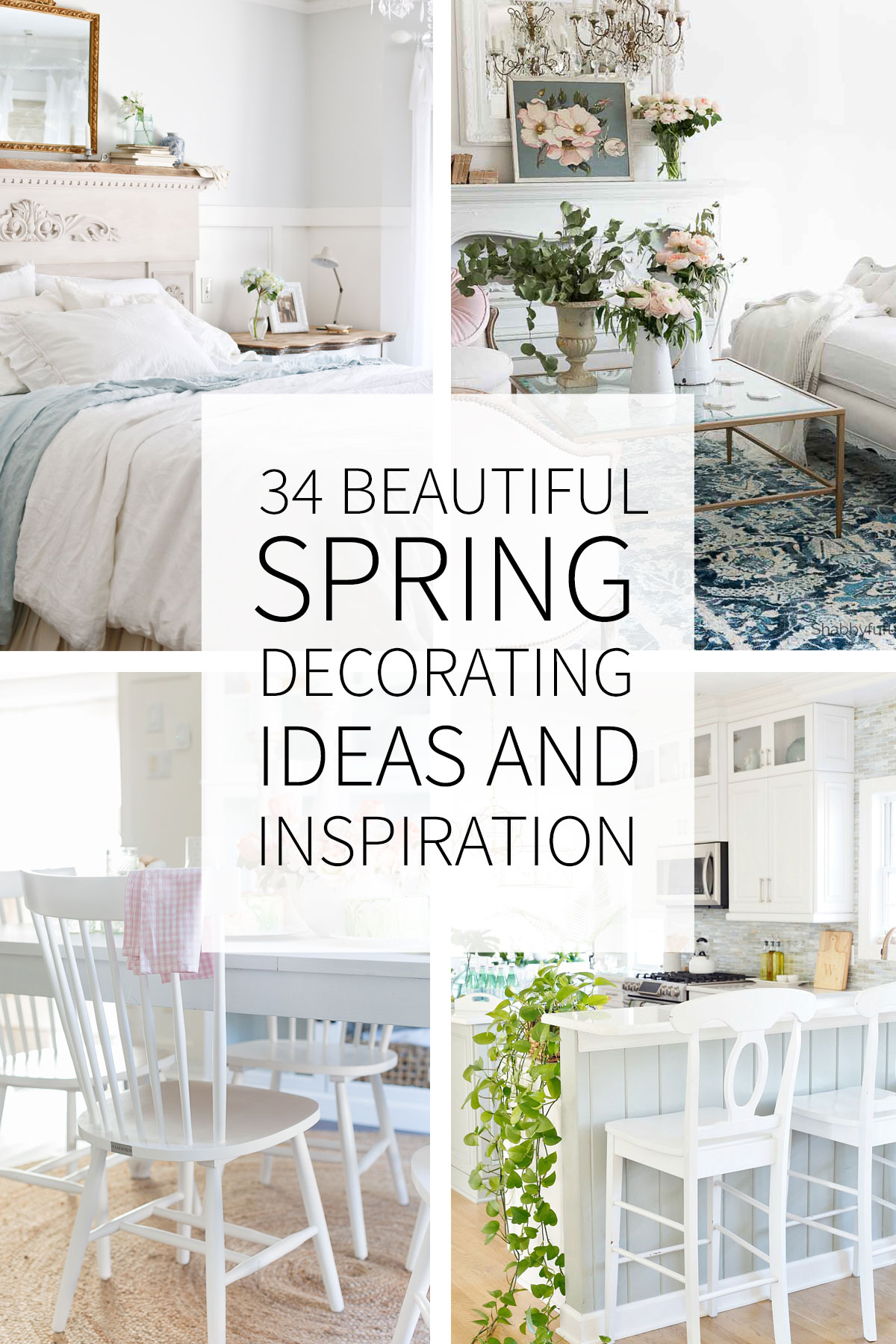 34 Inspiring and Beautiful Spring Decorating Ideas - Tidbits