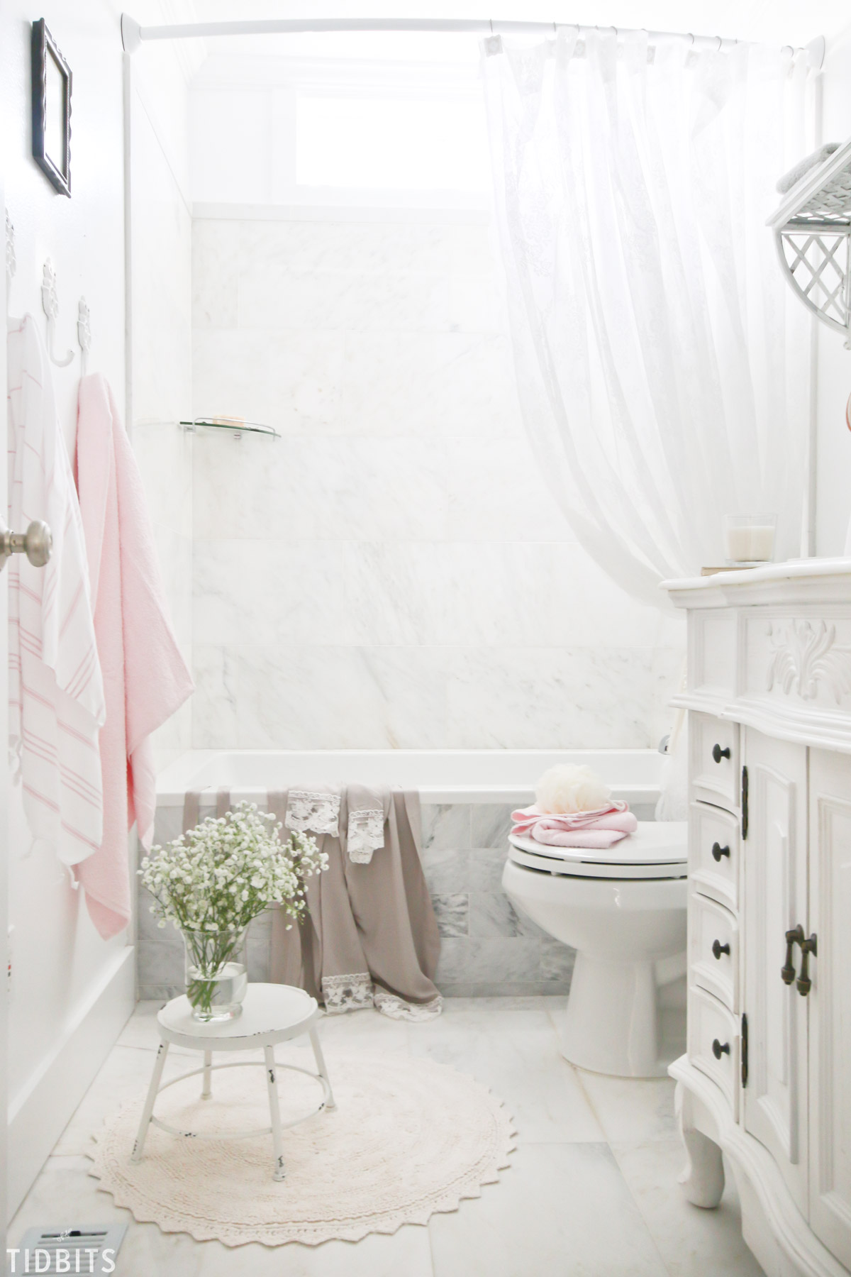 French Cottage Bathroom Spring refresh for family