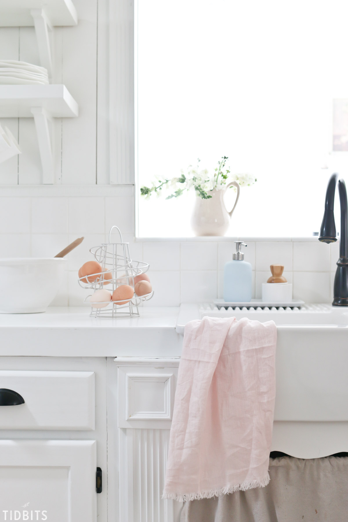 Farmhouse sink and Spring refresh
