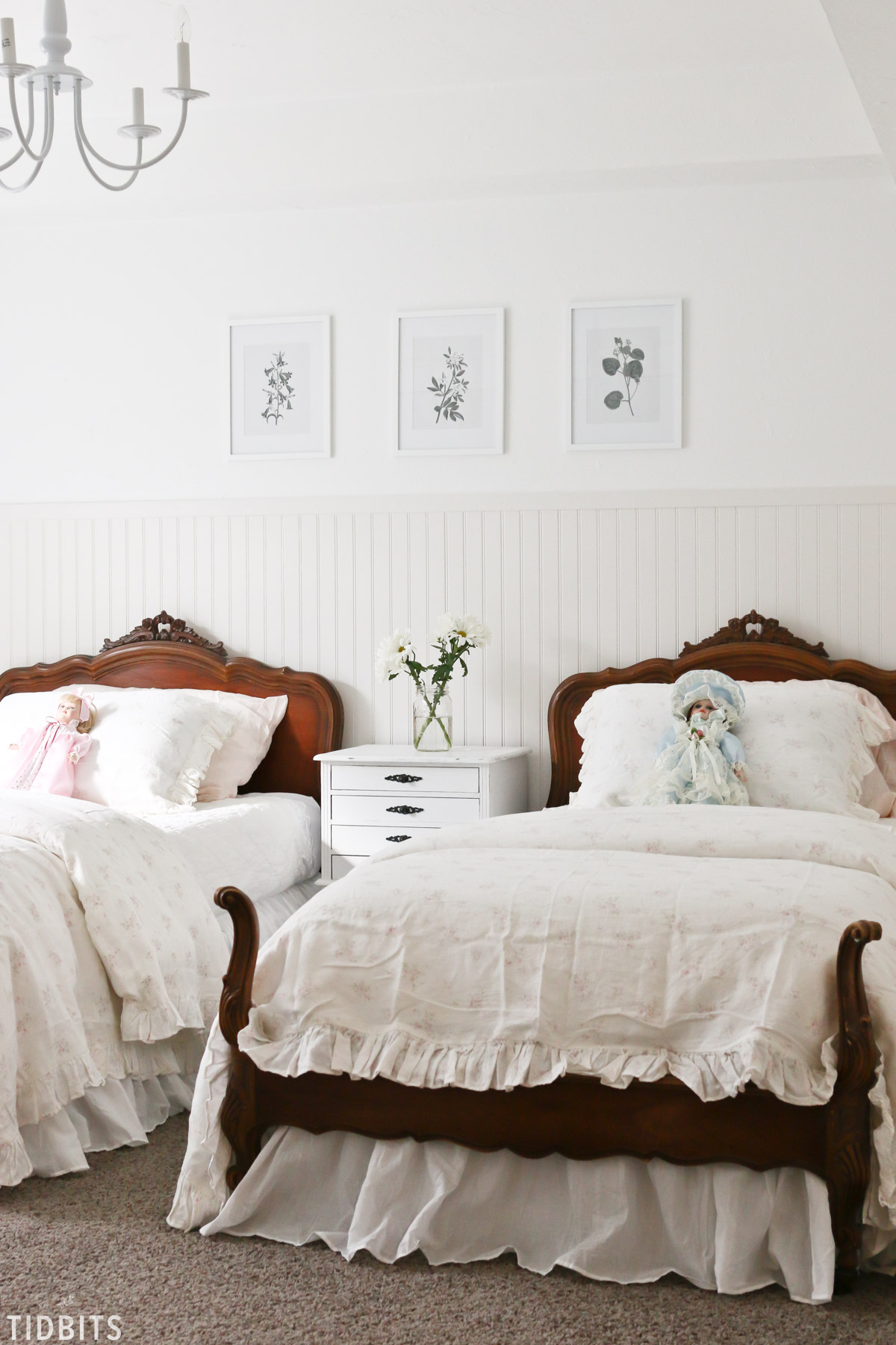 French cottage girls bedroom makeover by tidbits