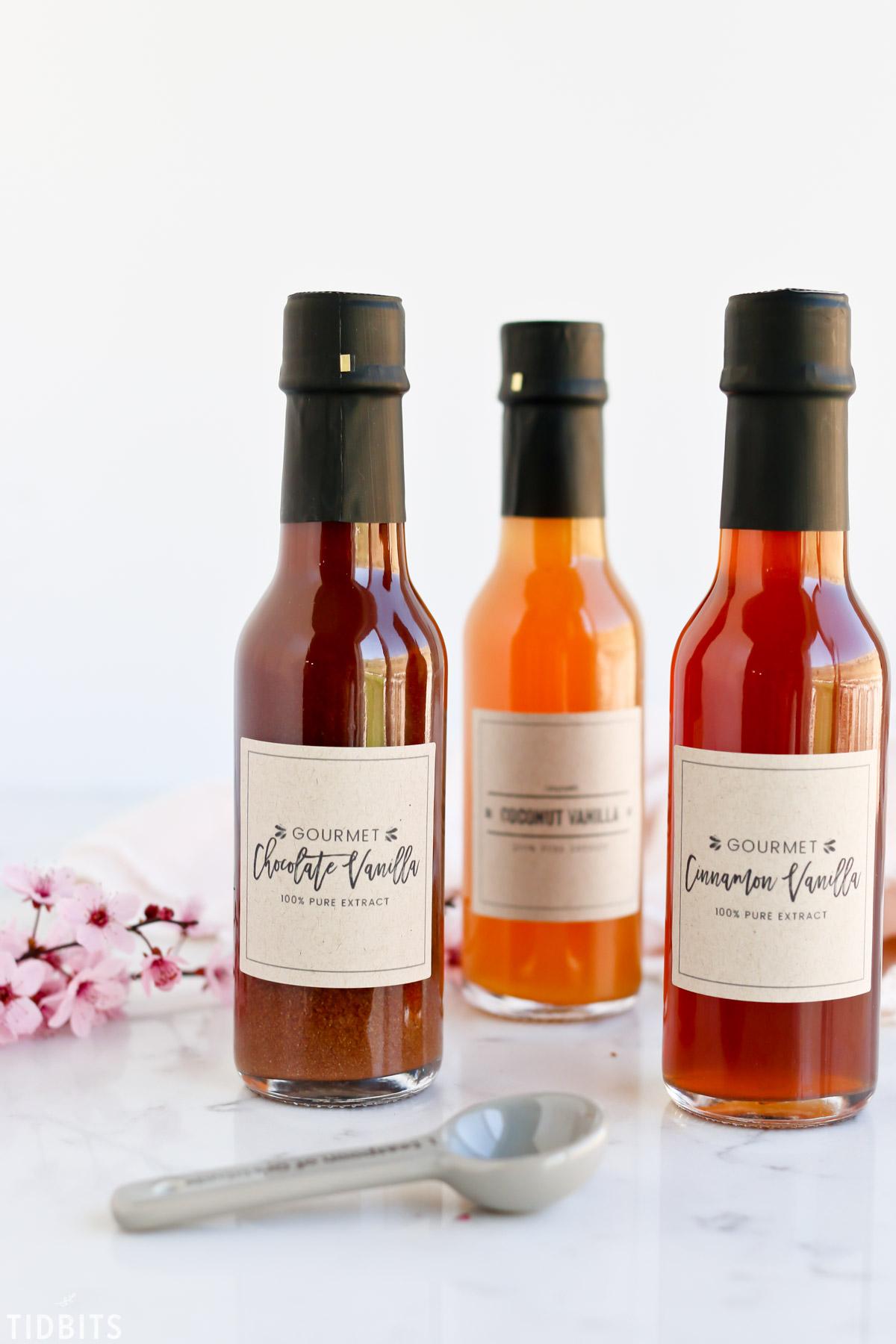 Gourmet Vanilla Extract Labels