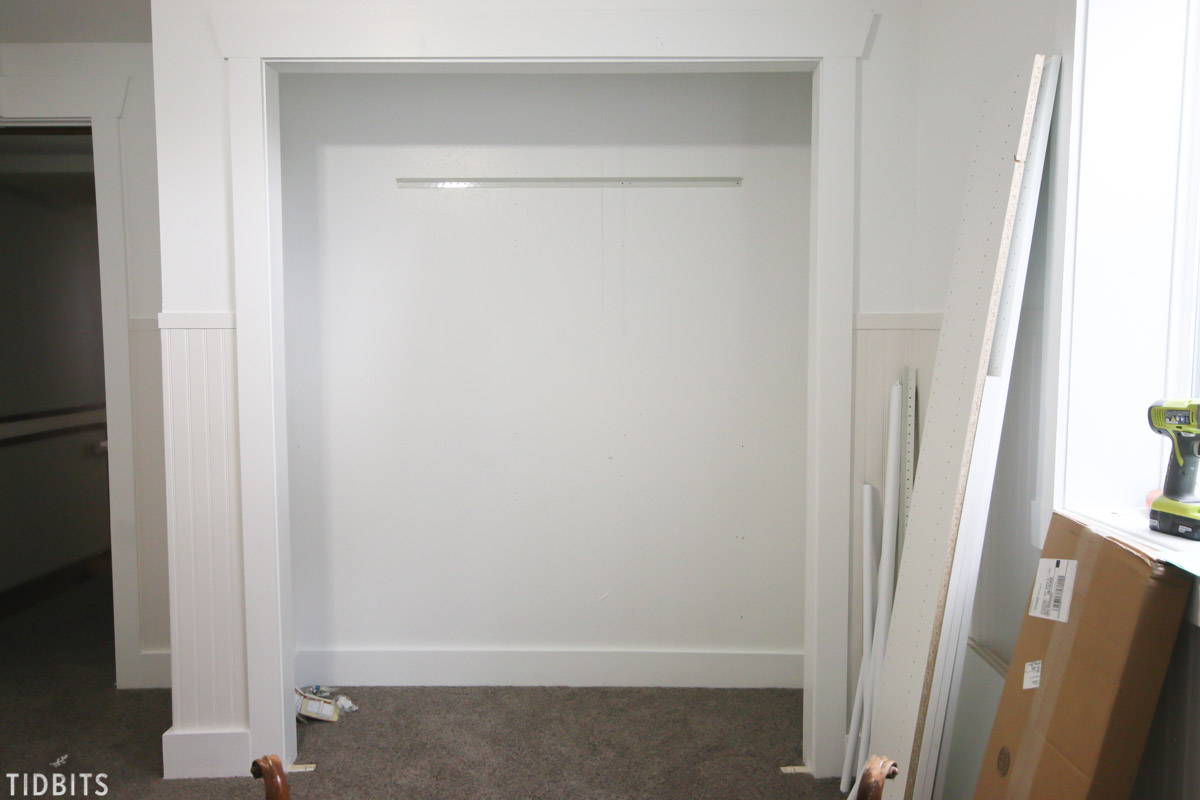 closet makeover during
