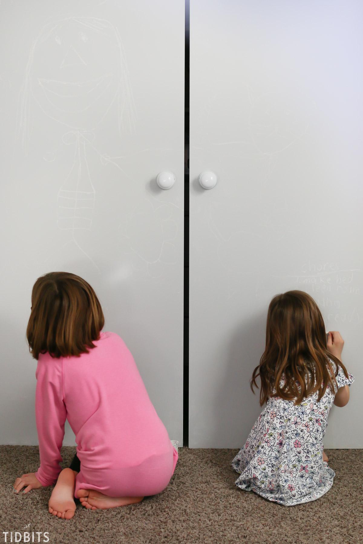 Tintable Chalkboard Closet Doors Kids Bedroom Tidbits