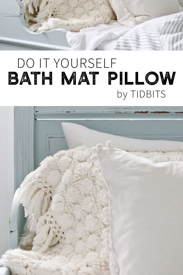 DIY Bath Mat Pillow TIDBITS