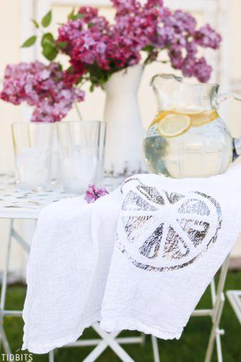 DIY Deco Foil Fruit Tea Towels