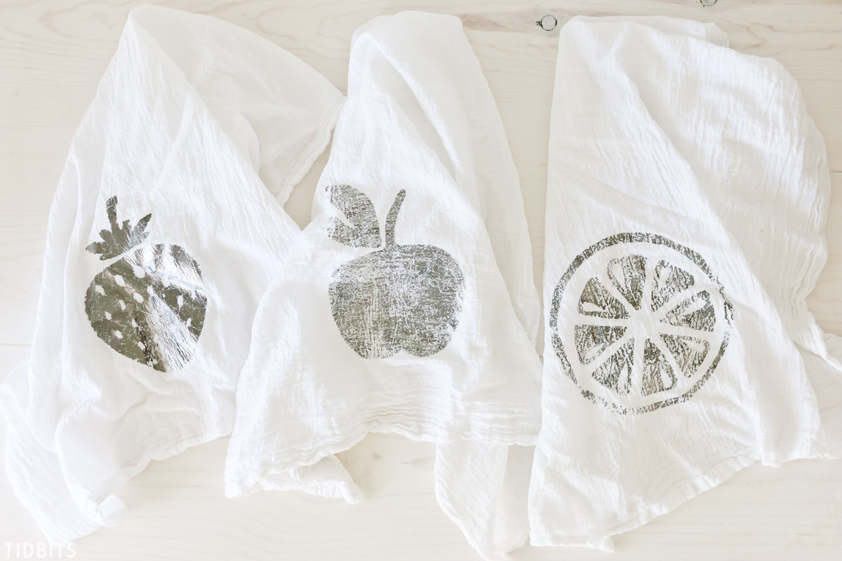 DIY Deco Foil Fruit Tea Towels