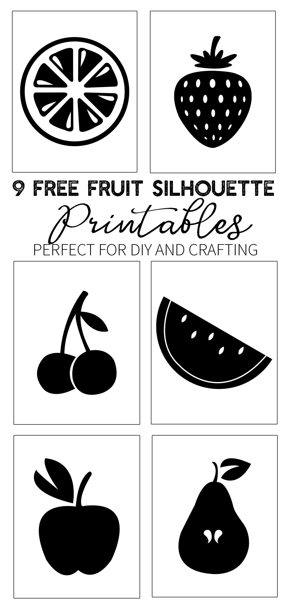 9 free fruit printables