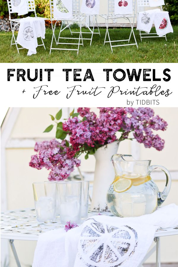 Fruit Tea Towels and Printables