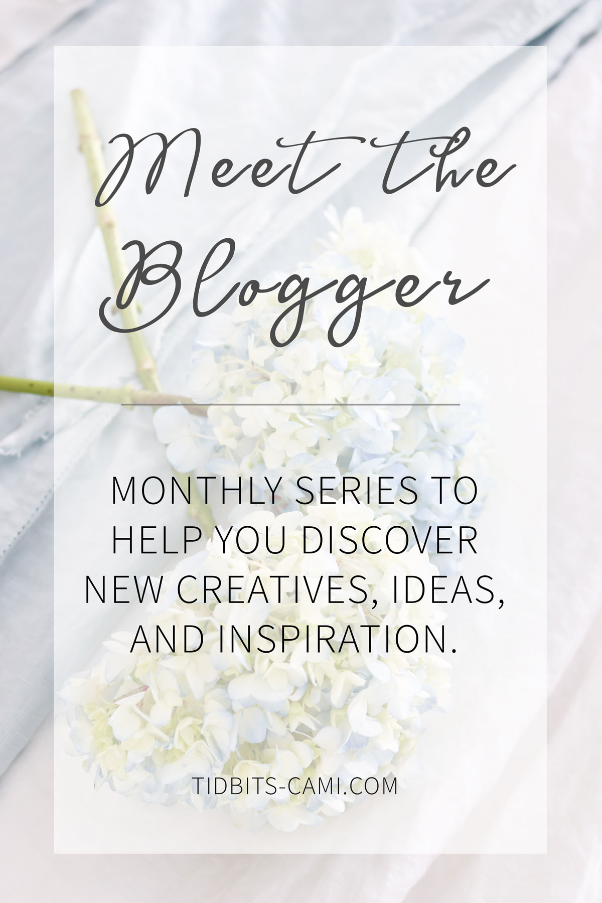 Meet the Blogger - a monthly series to help you discover new creatives, ideas and inspiration.