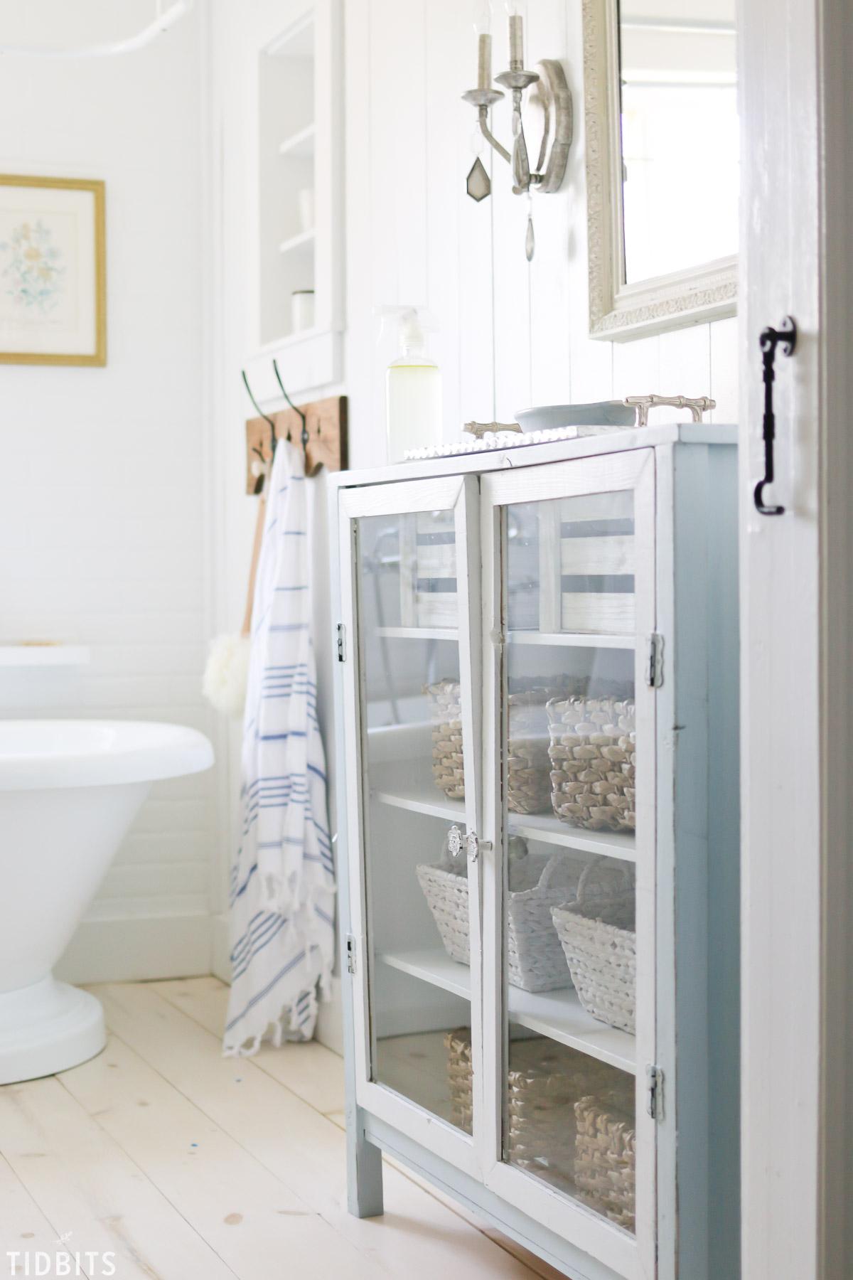 Custom built bathroom cabinet