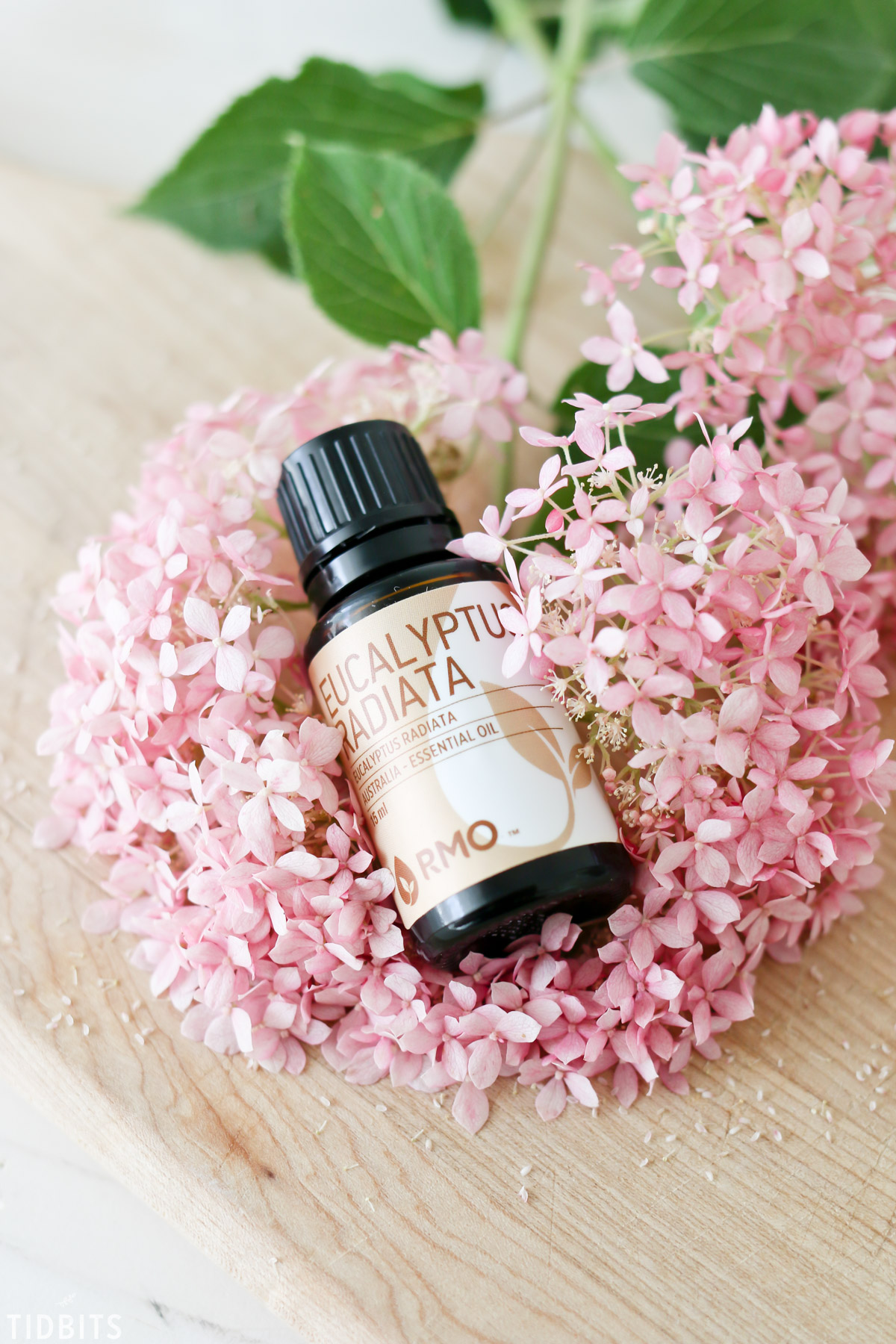 eucalyptus essential oil in flowers