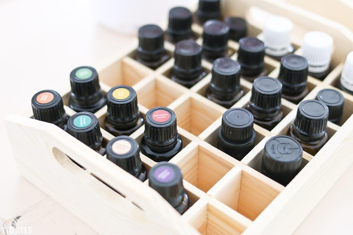 Essential oils in a oil box