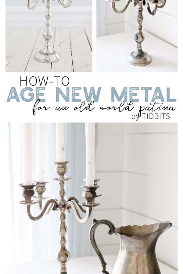 how to age new metal for an old world patina