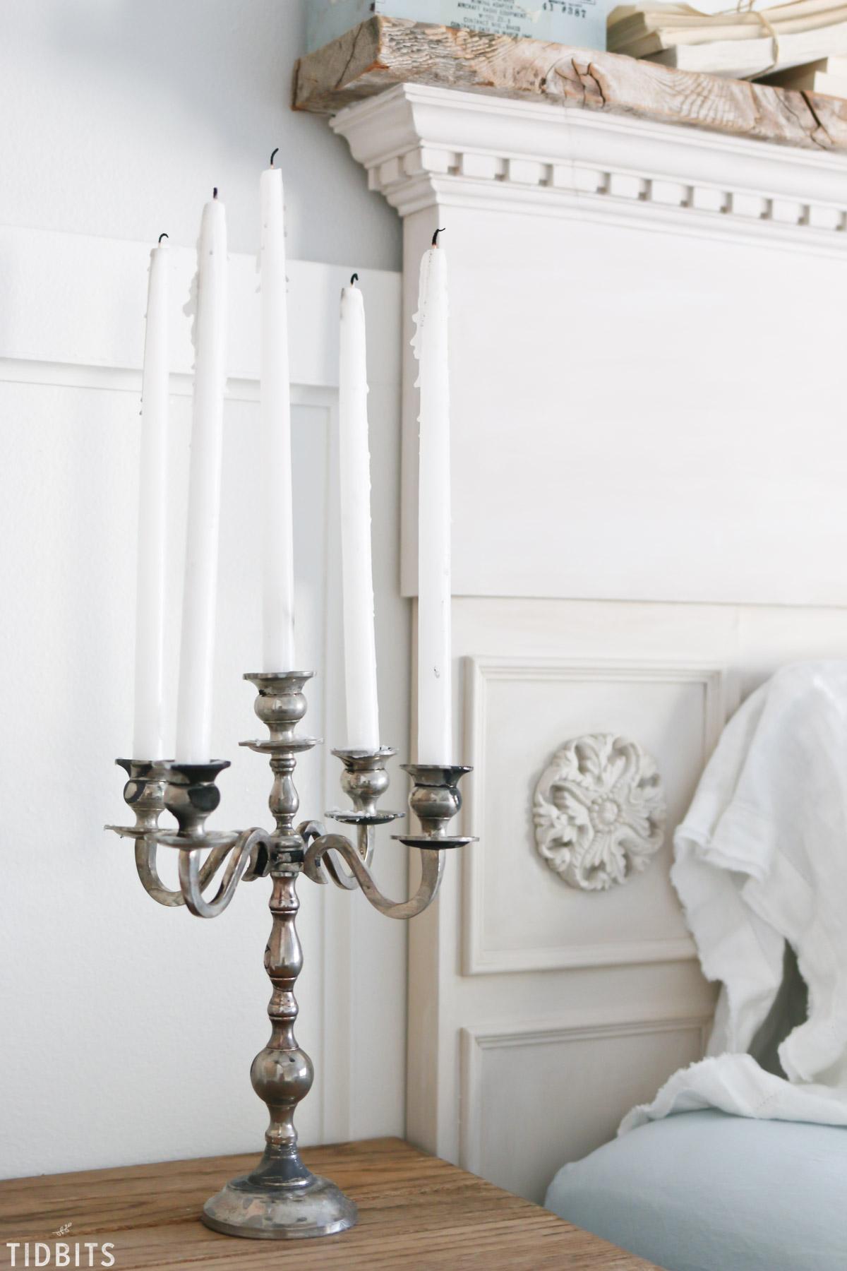 Vintage patina on a new candelabra