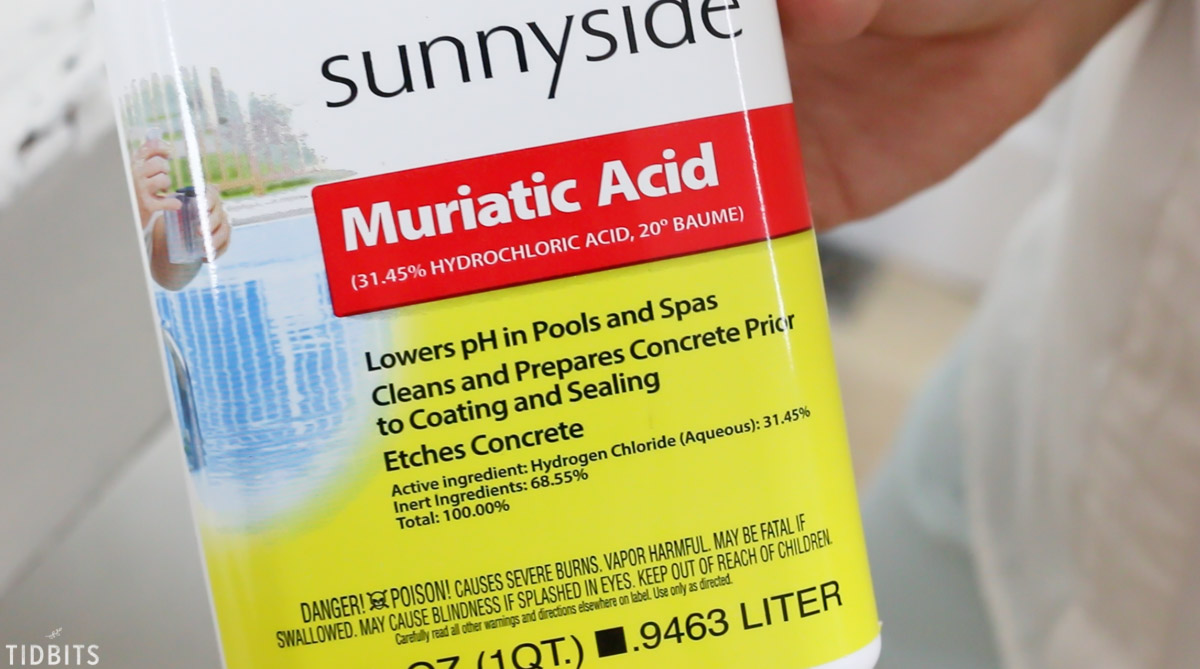 use muriatic acid to age new metal
