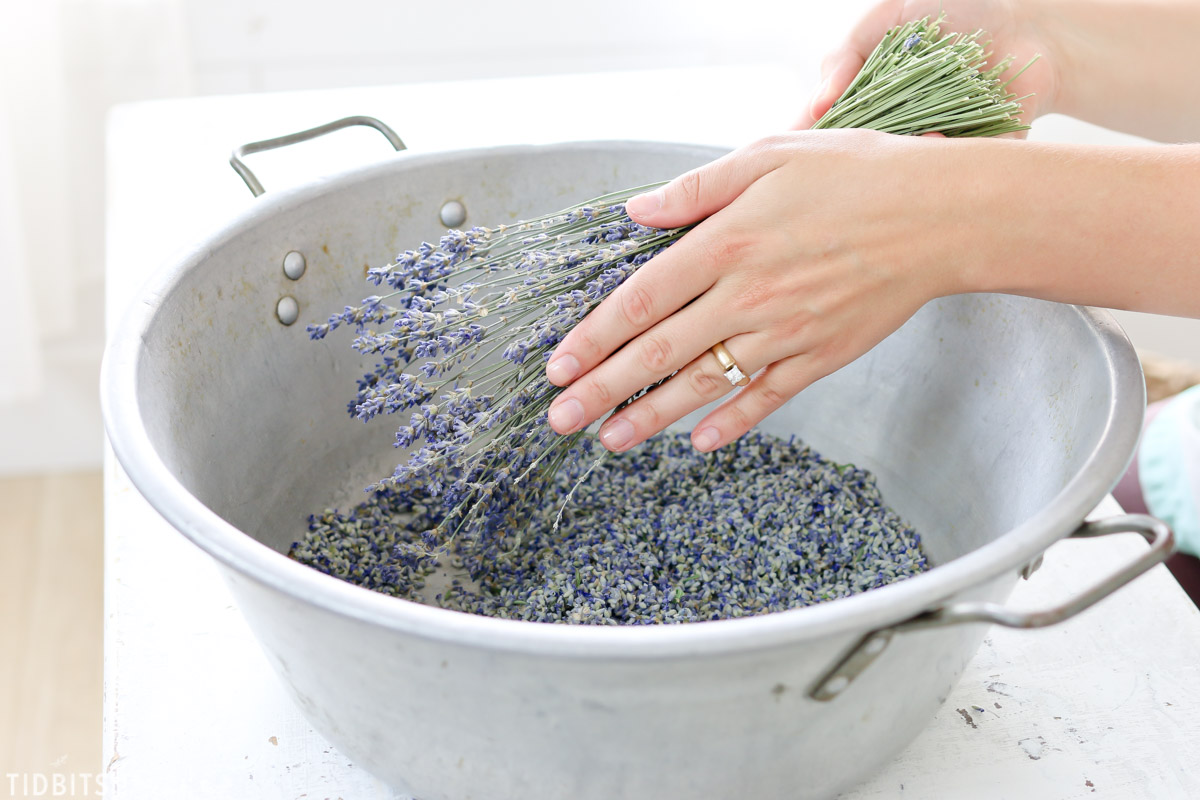 tap lavender bundle on hand to remove buds