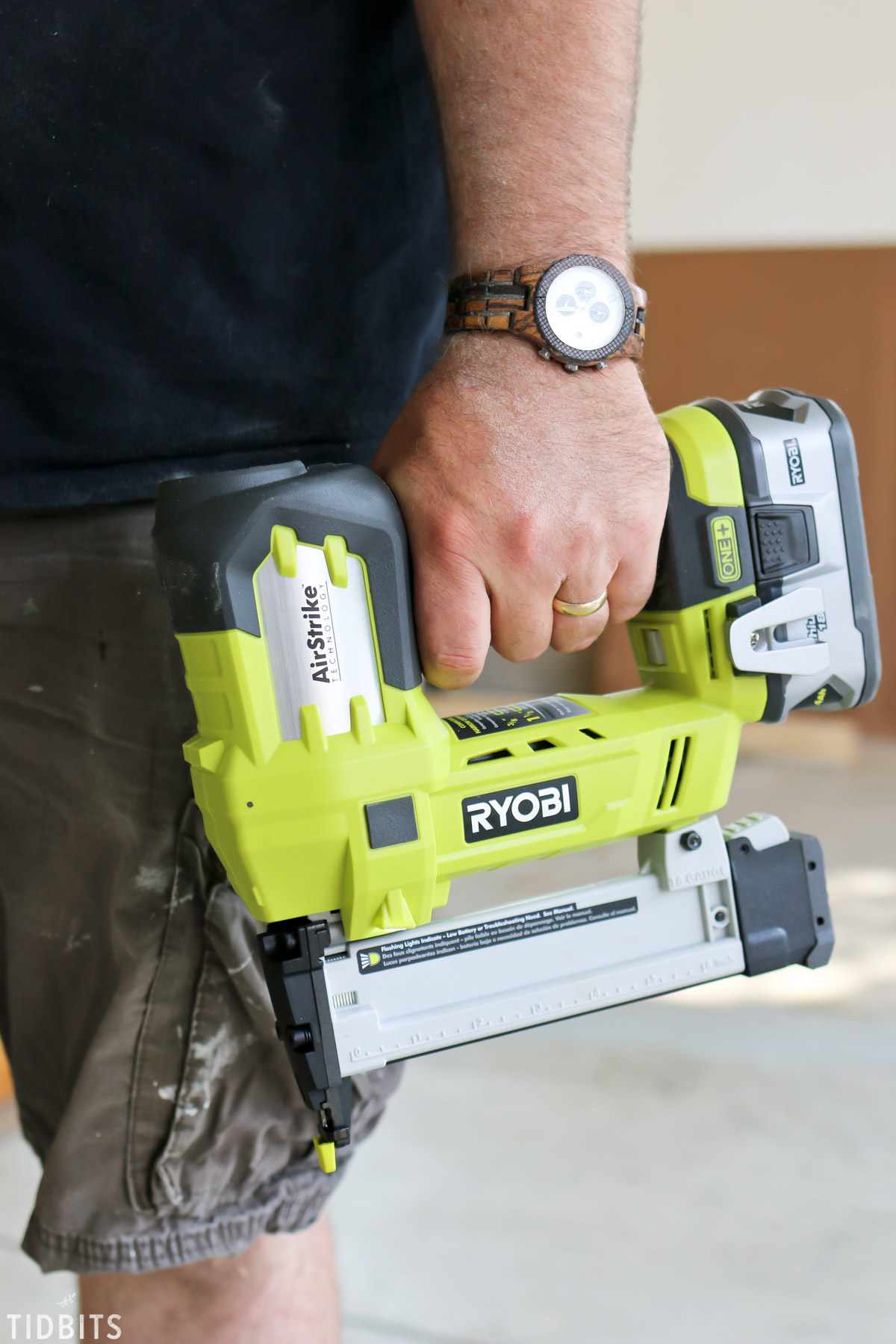Ryobi Power Tool held by man