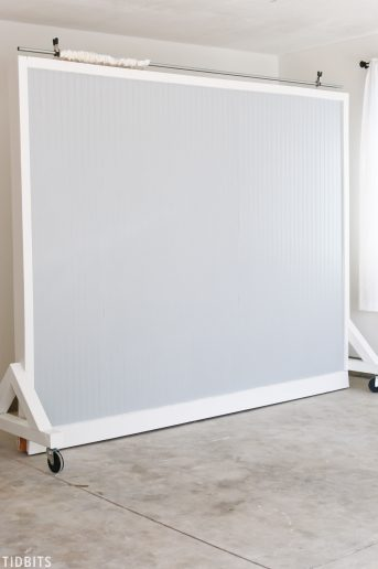 DIY Wall on Wheels | Photography Studio Backdrop