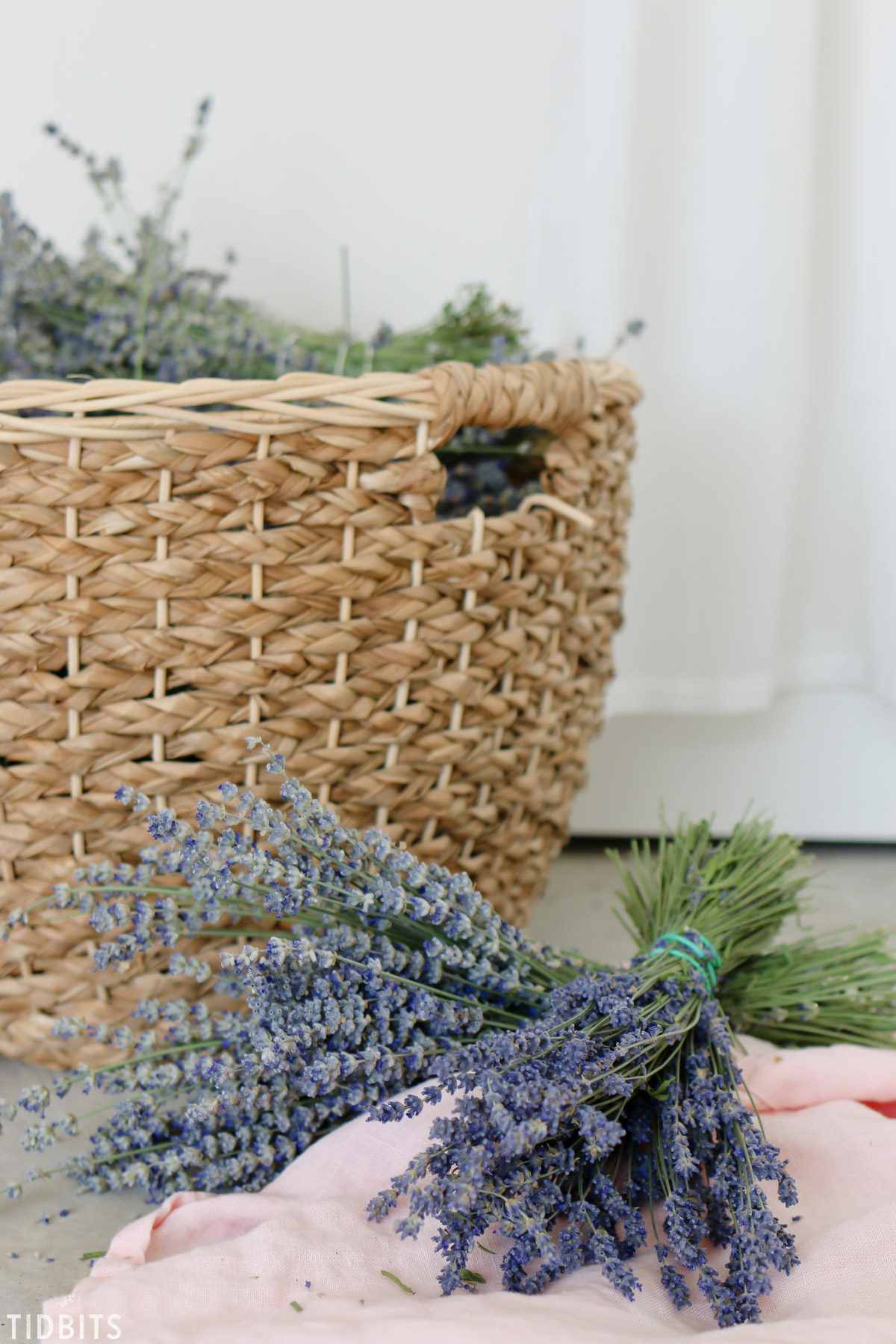 lavender bundles in basket