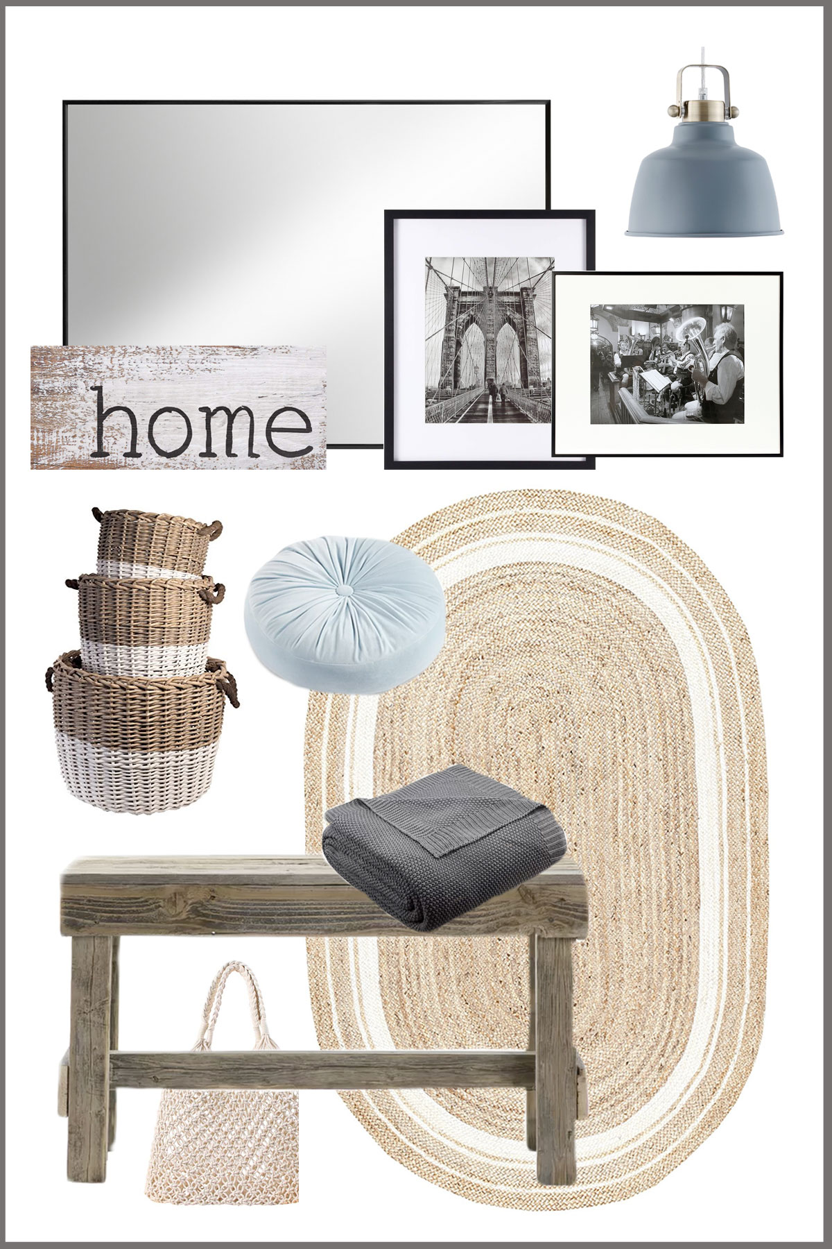 design board for traditional farmhouse entryway / foyer