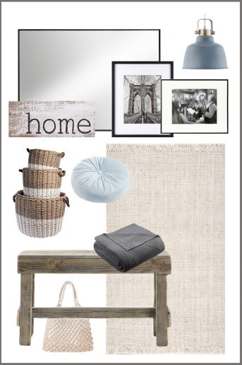 design elements for a modern farmhouse entryway