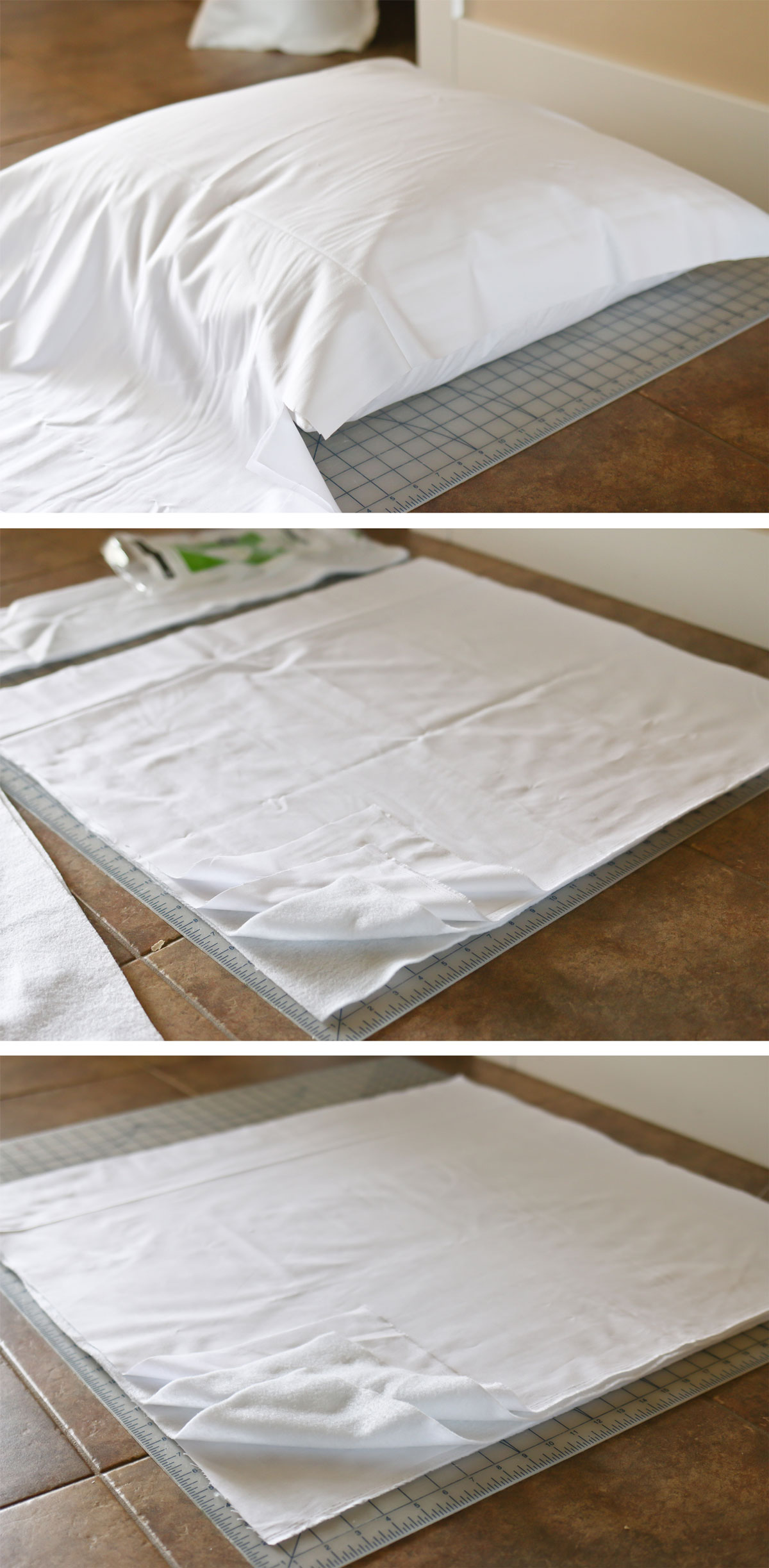 sewing steps for quilted pillow