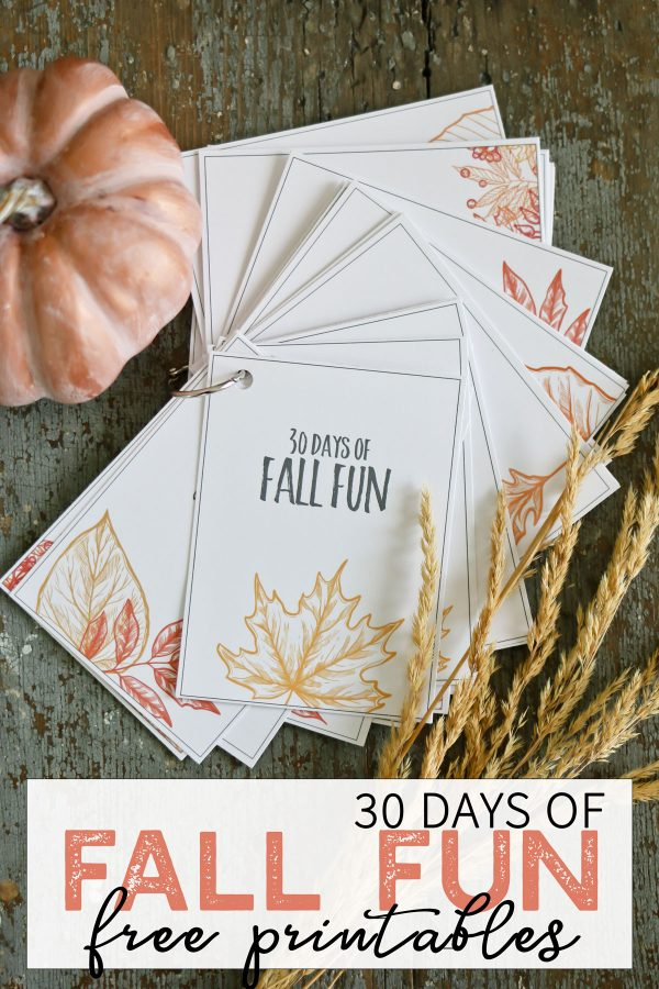 30 Days of Fall fun free printables