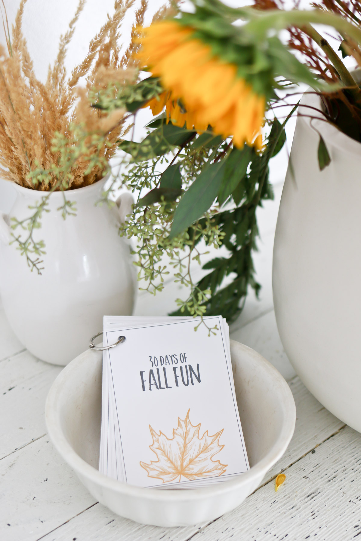 fall flowers and fall printables