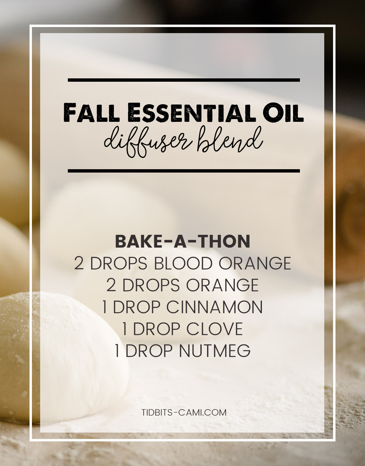 bake a thon essential oil diffuser blend