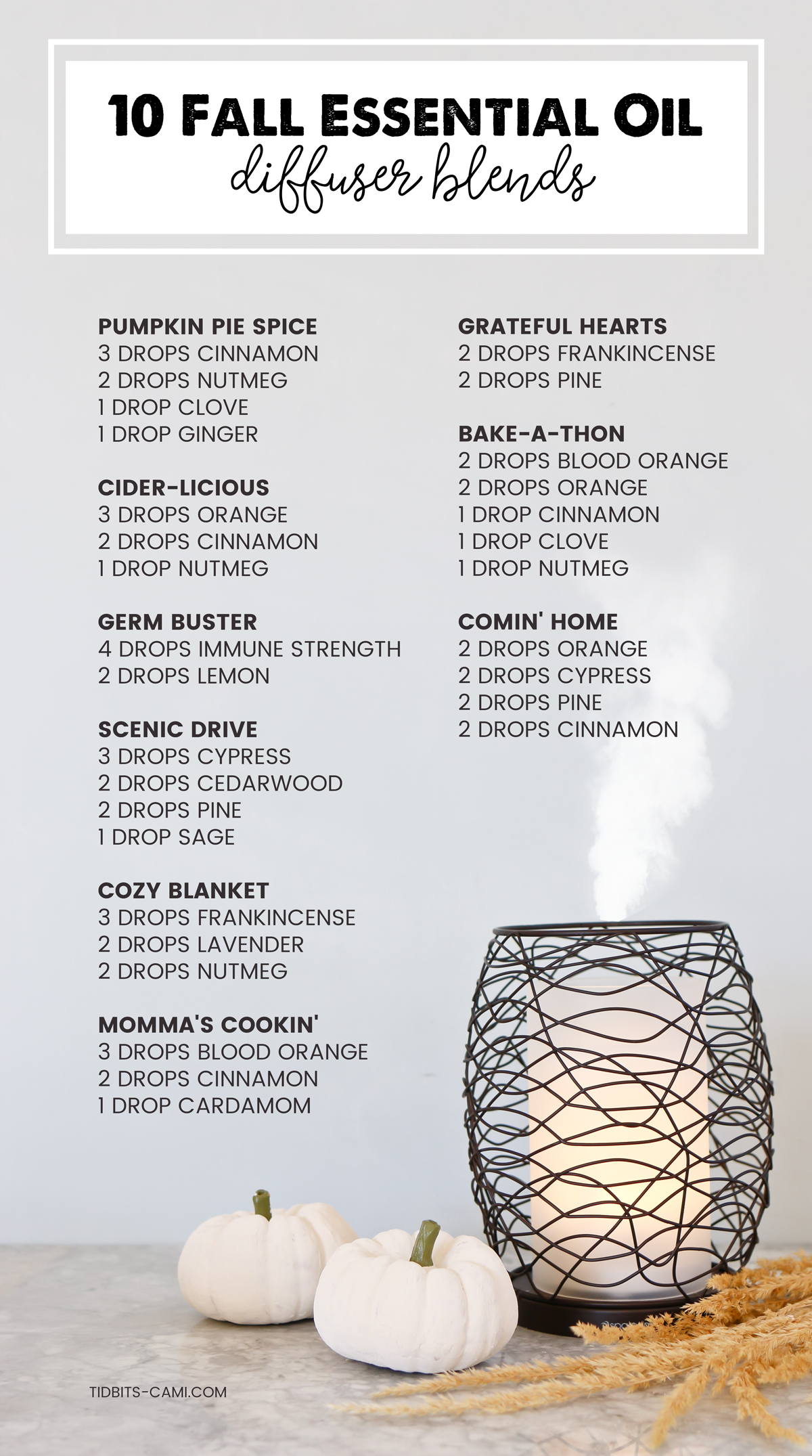 10 yummy essential oil diffuser blends