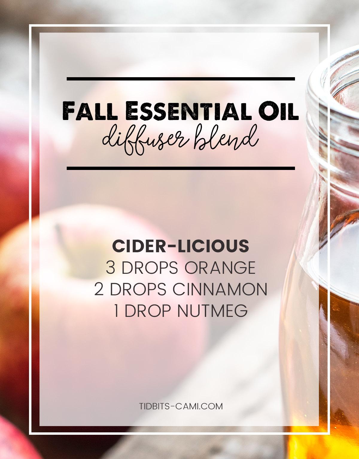 cider-licious essential oil diffuser blend