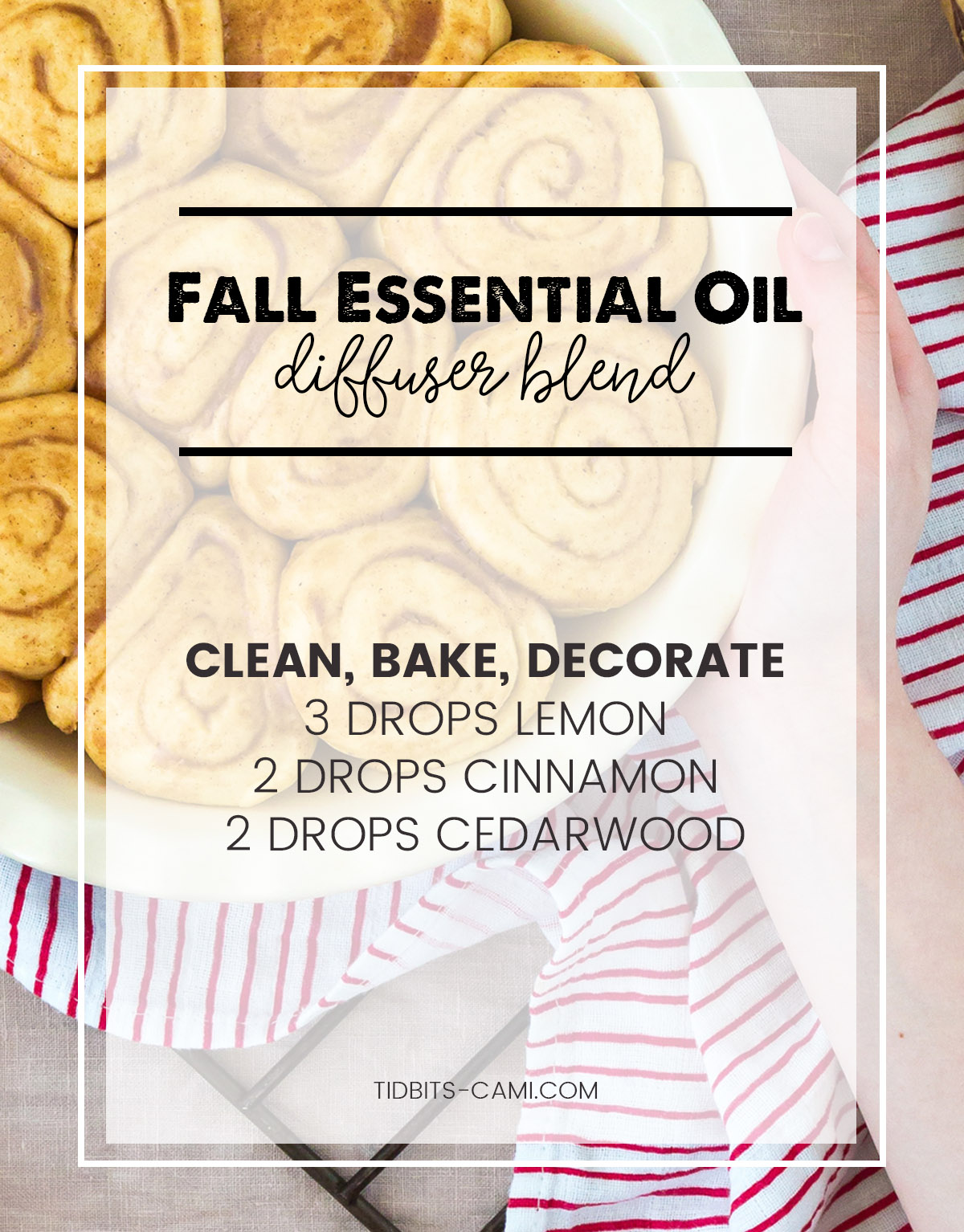 clean bake decorate essential oil diffuser blend
