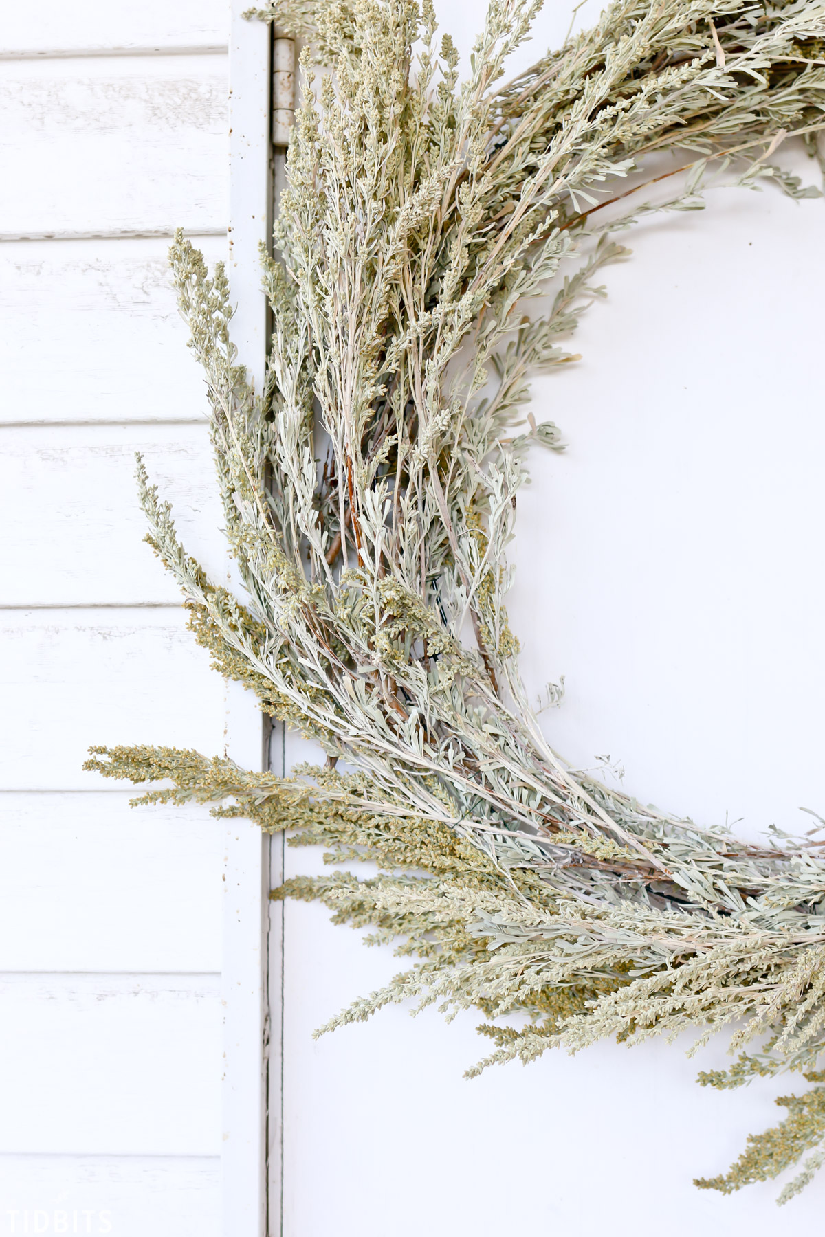Wreath made from sage brush for Fall decor