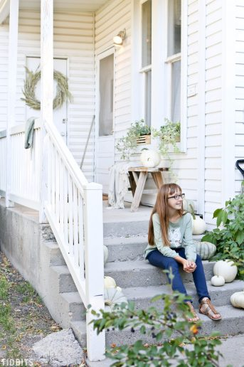 Fall Front Porch | Decorating with Sage Green