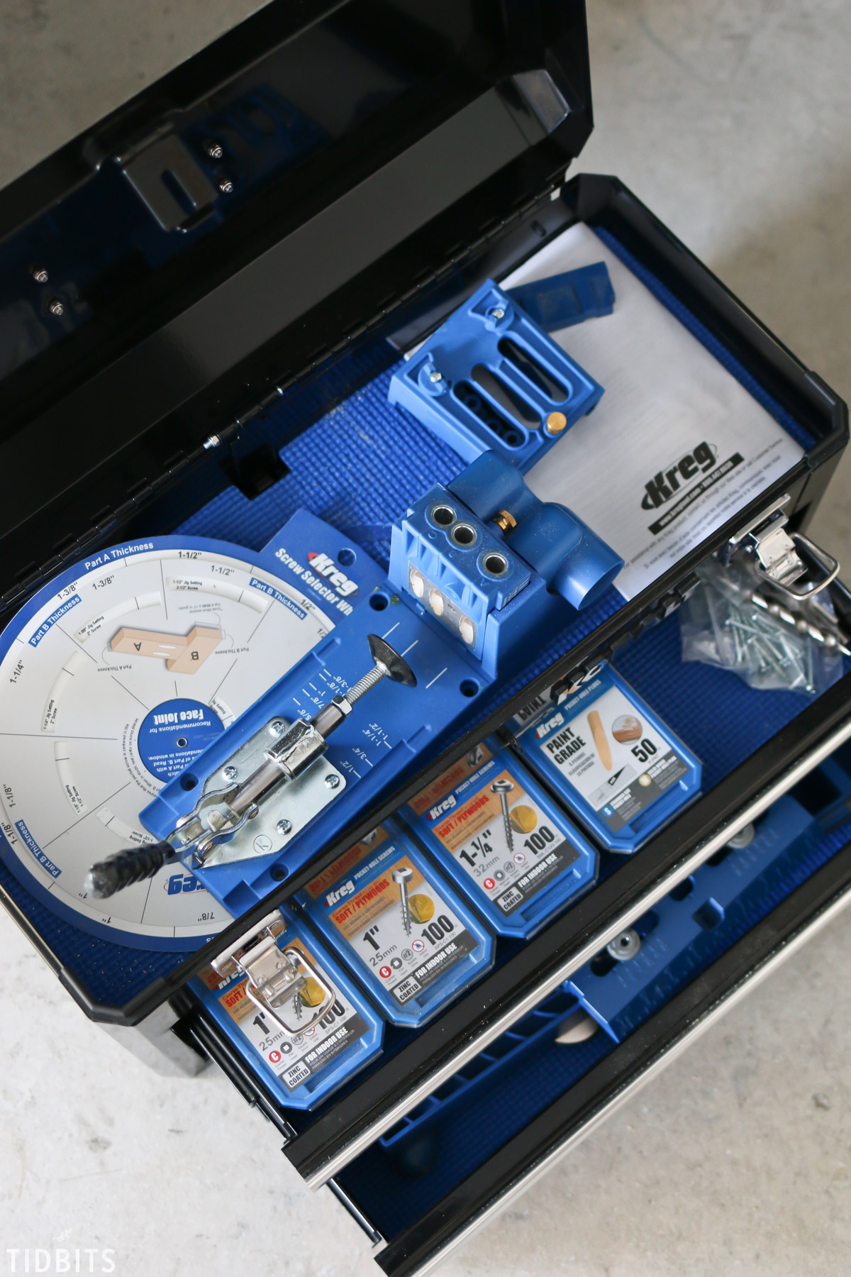 Kreg Jig set in tool box