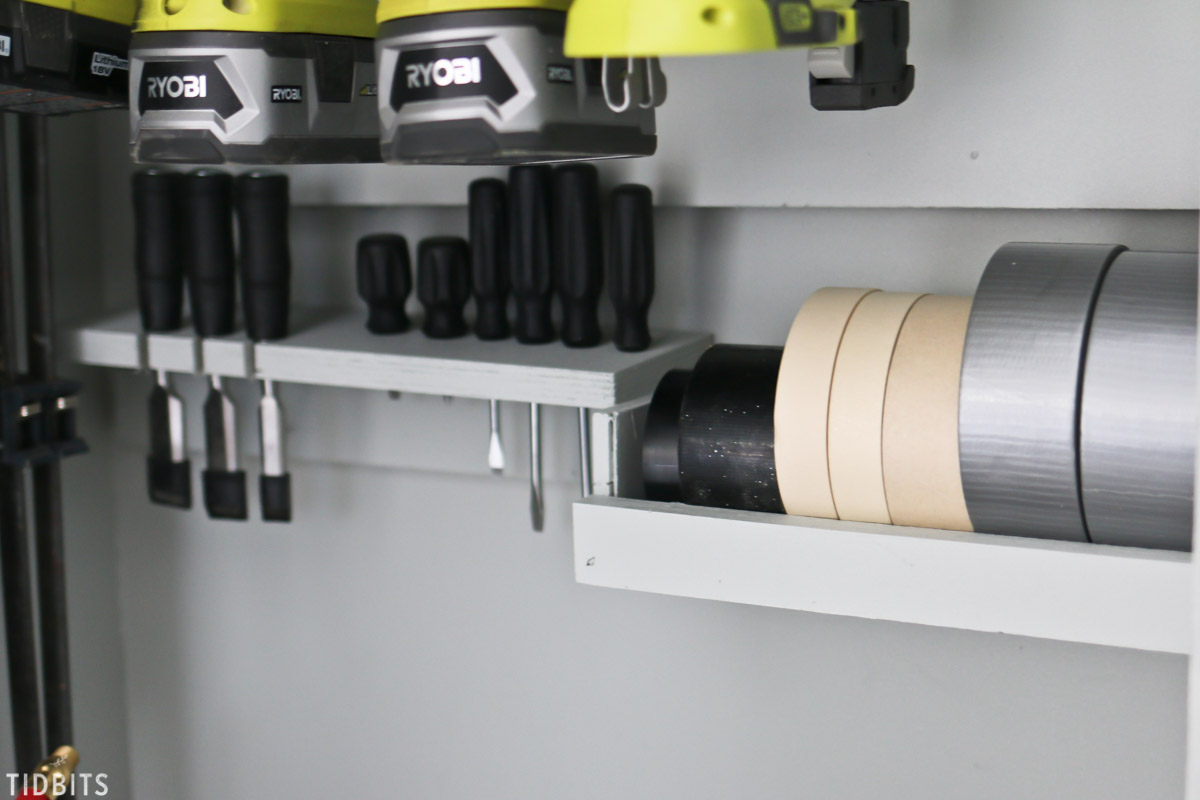 storage for tape and tools