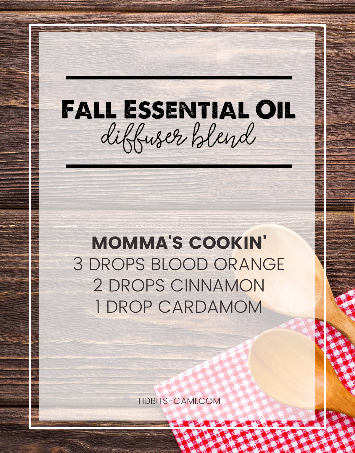 mommas cookin' essential oil diffuser blend