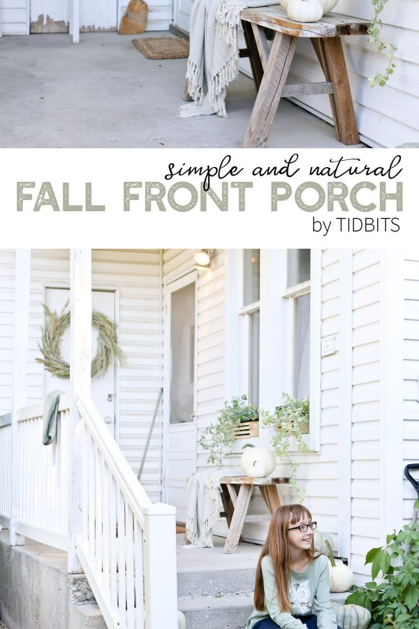SIMPLE AND NATURAL FALL FRONT PORCH