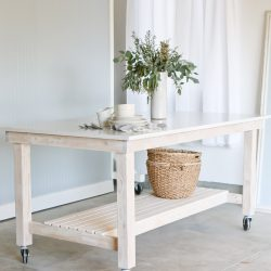 DIY Rolling Work Table / Kitchen Island