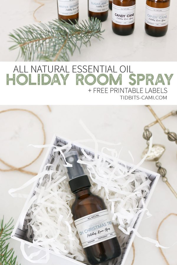 All Natural Essential Oil Holiday Room Spray