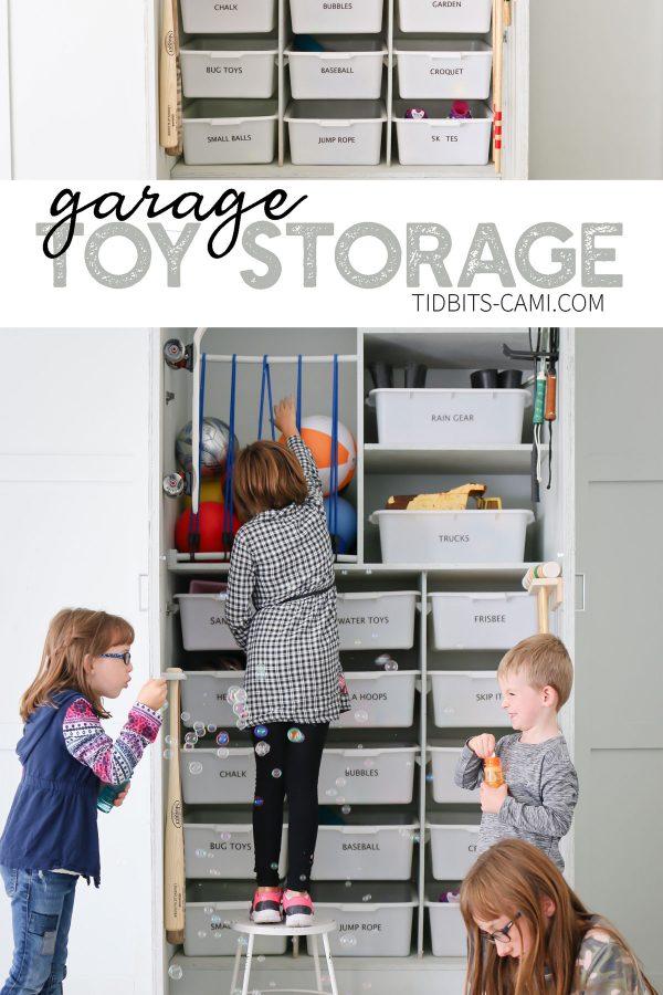 Garage toy storage and organization ideas